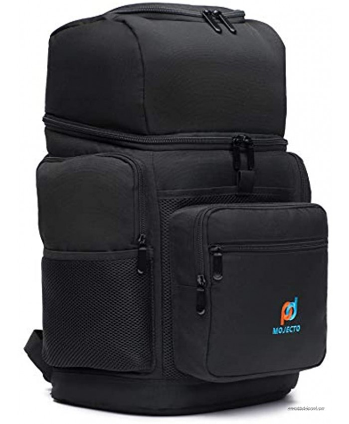 Insulated Meal Prep Backpack Cooler Bag- Two Insulated Compartment. Heavy Duty 1000D Fabric High Density Foam Heat Sealed Liner Multiple Large Pockets Strong Zipper Padded Straps.