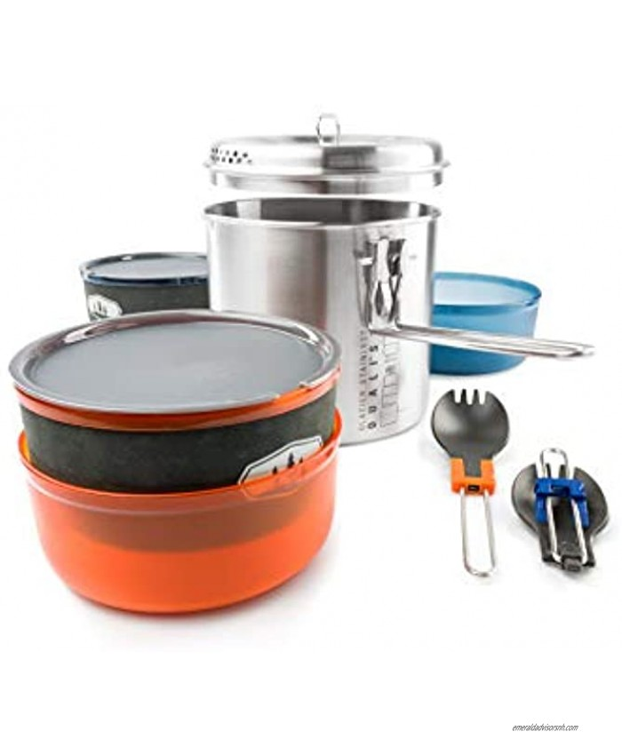 GSI Outdoors Glacier Stainless Dualist Backcountry Set
