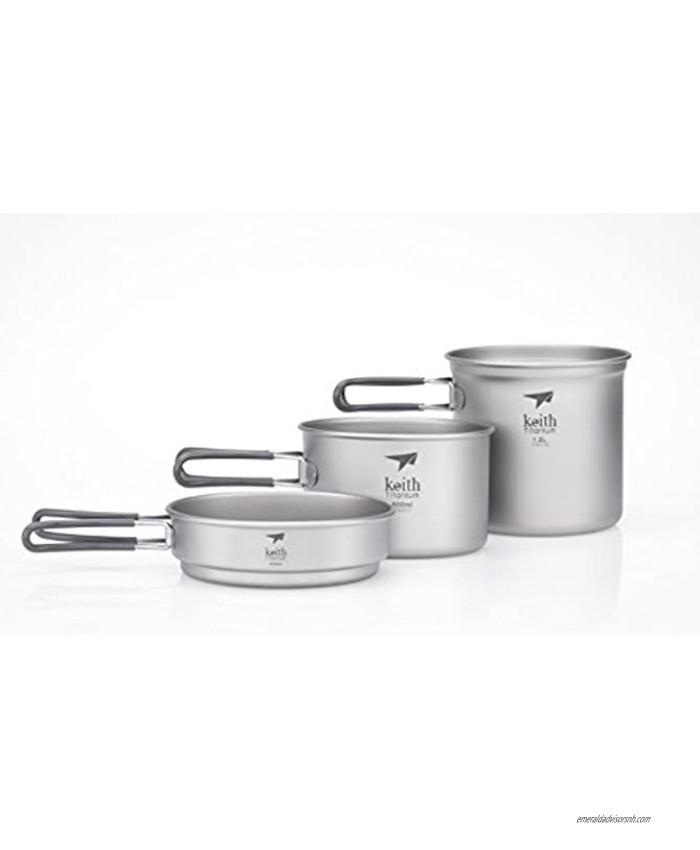 Keith Titanium Ti6014 3-Piece Pot and Pan Cook Set 2400ml Limited Time Promotion Price