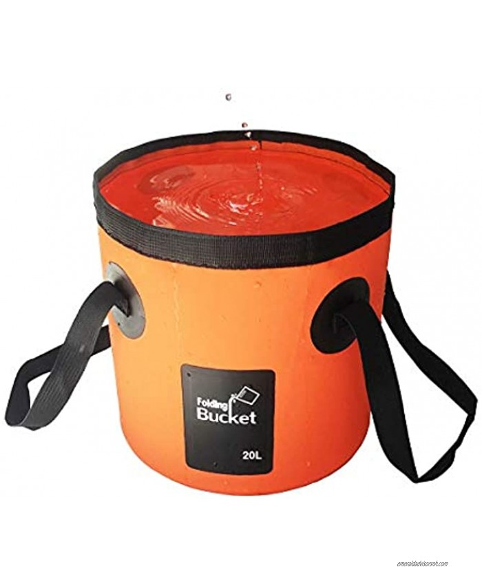 Sunglow Collapsible Bucket 3&5 Gallons Multifunctional Portable Collapsible Fishing Bucket -Wash Basin Folding Bucket -Water Container for Fishing-Camping-Gardening