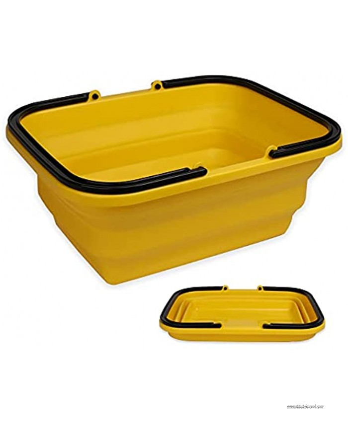 UNIGARDEN Collapsible Sink with 2.64 Gal 10L Each Wash Basin for Washing Dishes and Person During Camping Hiking and Home,Portable Outdoor Wash Basin