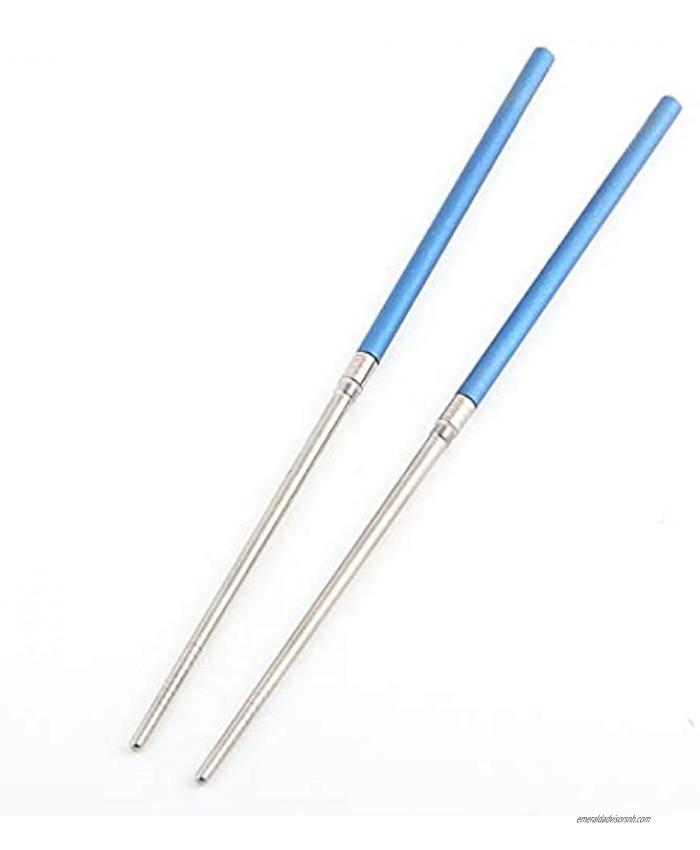 TITANER Chopsticks Foldable Portable Titanium Chopsticks with Carry Bag Tableware for Outdoor Camping Picnic