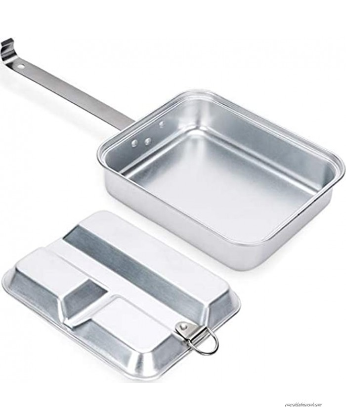 Aluminum Camping Cookware Portable Lunch Box Camping Pan for Outdoor Camping Hiking Picnic BBQ Beach