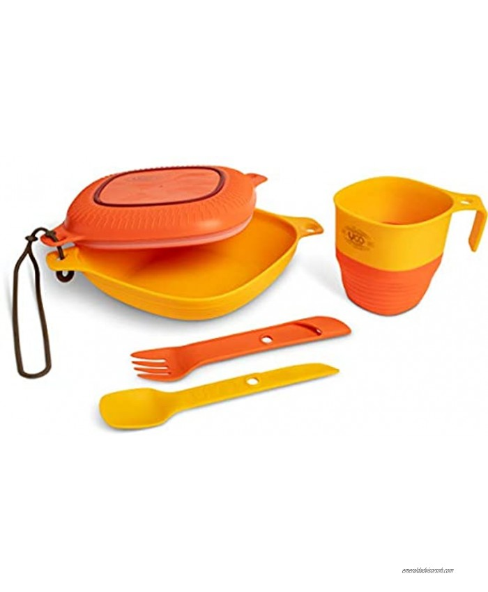 UCO 6-Piece Camping Mess Kit with Bowl Plate Camp Cup and Switch Spork Utensil Set