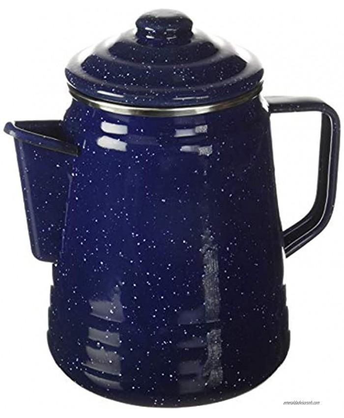 Coleman 9-Cup Coffee Enamelware Percolator Blue