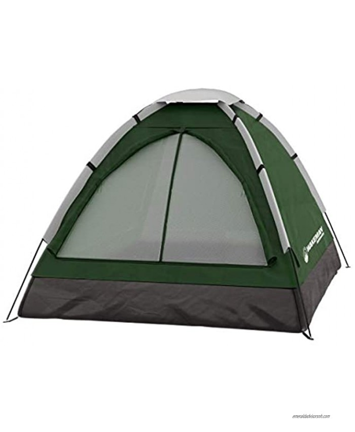 2-Person Dome Tent- Water Resistant Removable Rain Fly & Carry Bag- Easy Set Up-Great for Camping Hiking & Backpacking by Wakeman Outdoors Green