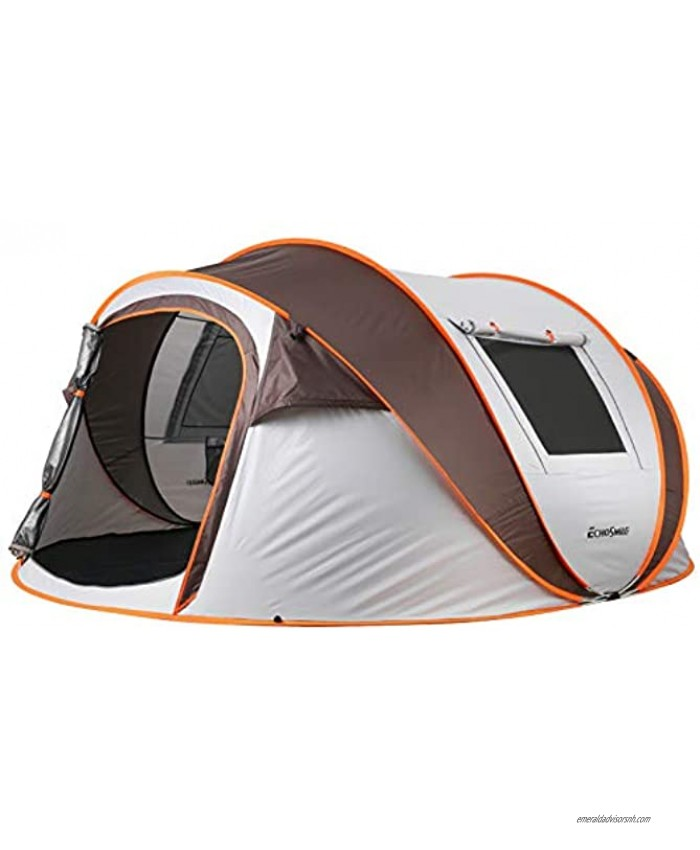 EchoSmile Camping Instant Tent 2 4 6 8 Person Pop Up Tent Water Resistant Dome Tent Easy Setup for Camping Hiking and Outdoor Portable Tent with Carry Bag for 3 Seasons