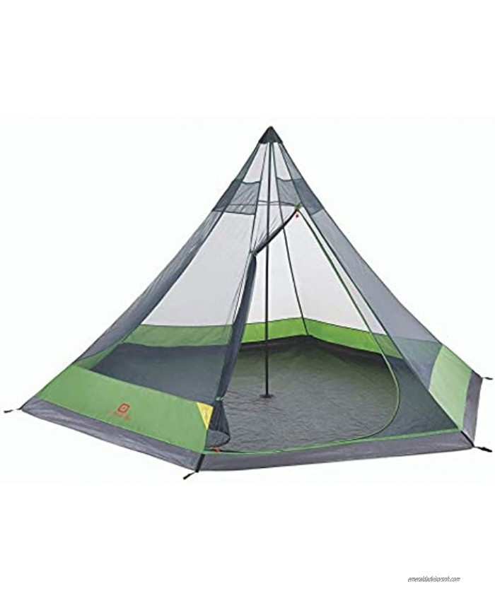Outbound 6-Person Festival Tent for Camping with Carry Bag and Rainfly | Water Resistant | 2 Season | Green