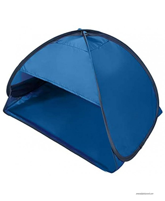 Pop Up Beach Tent,Portable Adjustable Beach Sun Shade Canopy Instant Outdoors Beach Tent Mat Sun Protection Shelter for Face While Sunbathing