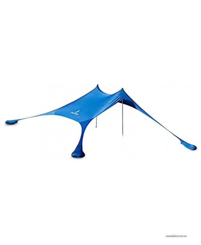 Strandwerk Premium Sun shelter Tent pop up Beach shelter with Sand Anchor Aluminium Poles and Ground pegs 7x7 FT