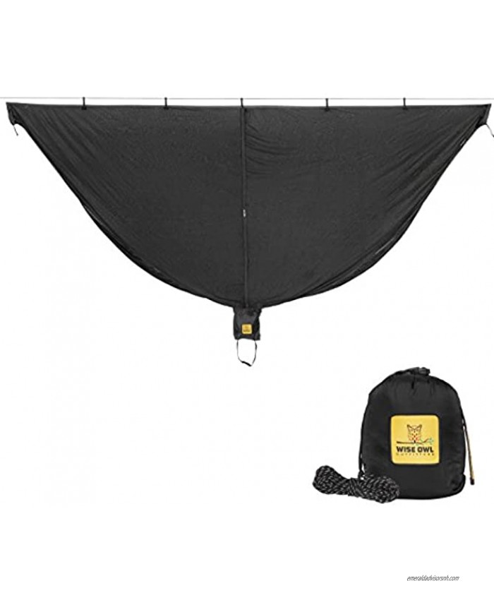 Wise Owl Outfitters Hammock Bug Net The SnugNet Mosquito Net for Bugs Premium Quality Mesh Netting is a Guardian for Mosquitos No See Um and Insects Perfect Accessory for Your Hammocks