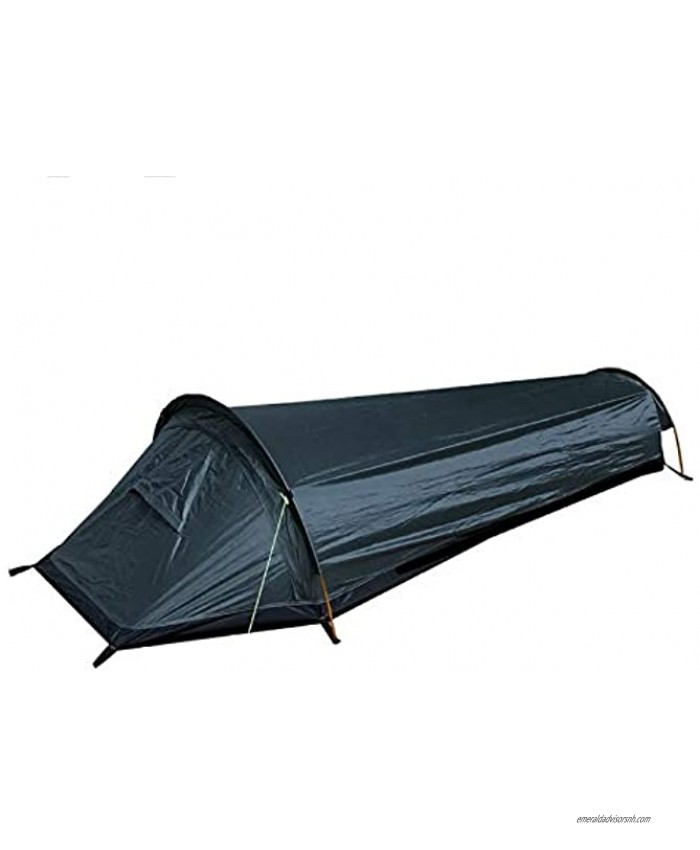 Ultralight Bivvy Bag Tent,with Wind Rope&Tent Pegs & Outer Bag,Compact Single Person Waterproof Ventilated Tent for Camping Outdoor Survival