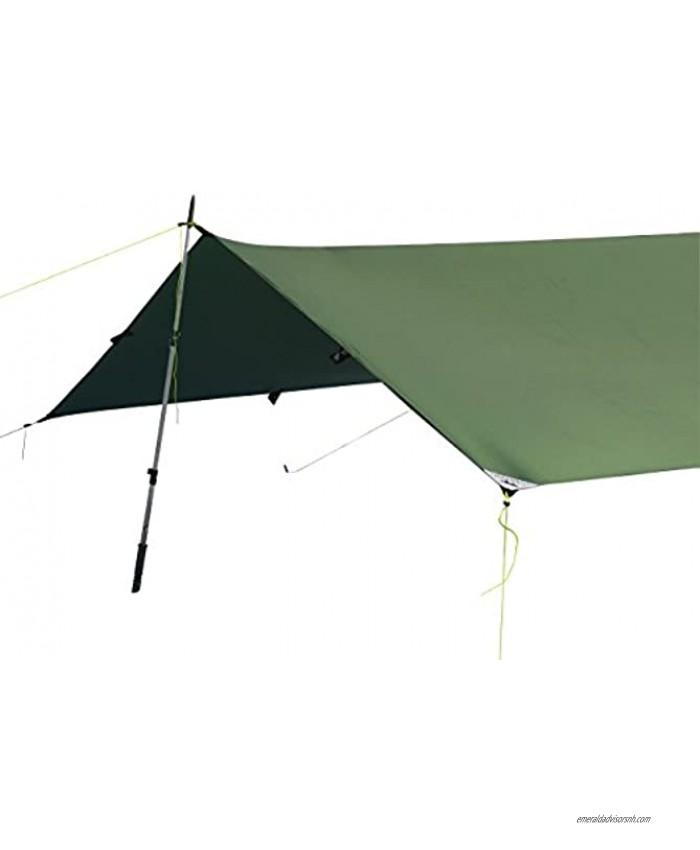 LiteOutdoors Silnylon Tarp 11.6 Oz. Ultralight Backpacking Tarp or Hammock Tarp