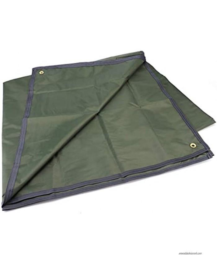 Tebery Waterproof Camping Tarp Mutifunctional Tent Footprint with Drawstring Carrying Bag for Picnic Hiking -94.5 x 86.7 in