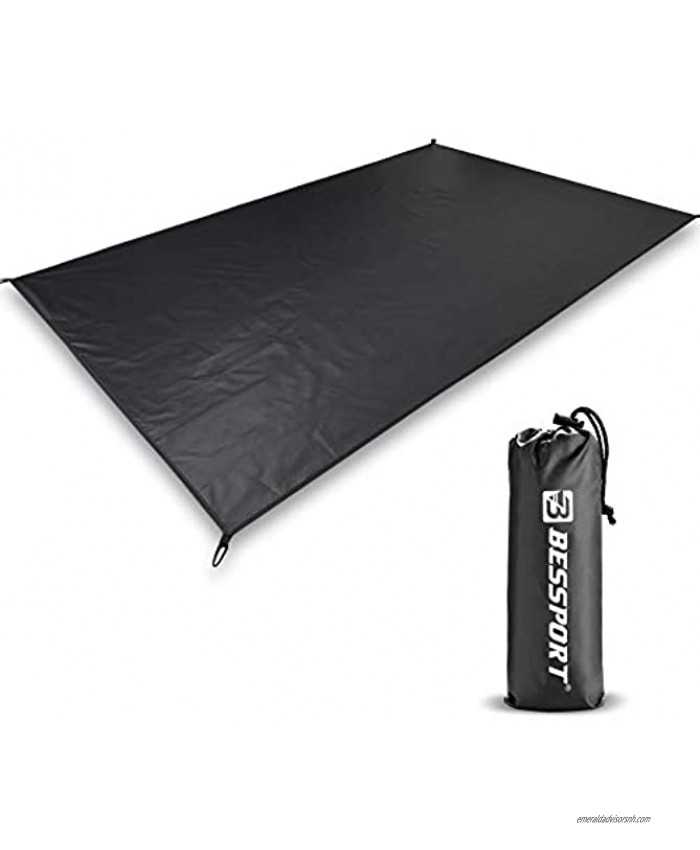 Bessport Ultralight Tent Footprint for 2 Person Waterproof Camping Tarp with Drawstring Carrying Bag for Picnic Hiking Backpacking Beach