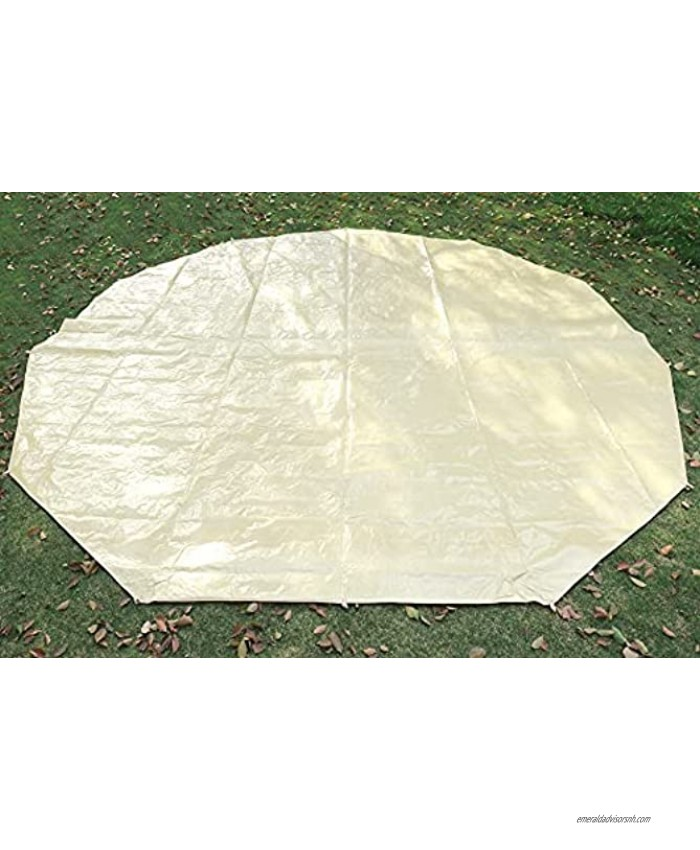 Outop Ultralight 4M 5M Bell Tent Footprint Mat Waterproof Tent Tarp for Bell Tent with Drawstring Bag for Ground Camping