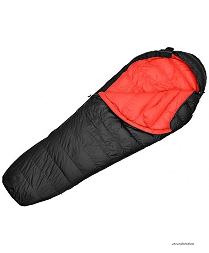 Mountaintop Ultralight Mummy Sleeping Bags 500 Fill Power Duck Down Suits for 50 Degree F for Camping Hiking Backpacking