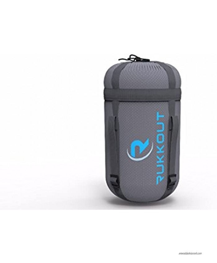 RUKKOUT Lightweight Envelope Sleeping Bag Water Resistant 3 Season Bag for Camping Hiking and Backpacking -Ideal for Outdoor Activities with The Included Compression Sack for Portable Use