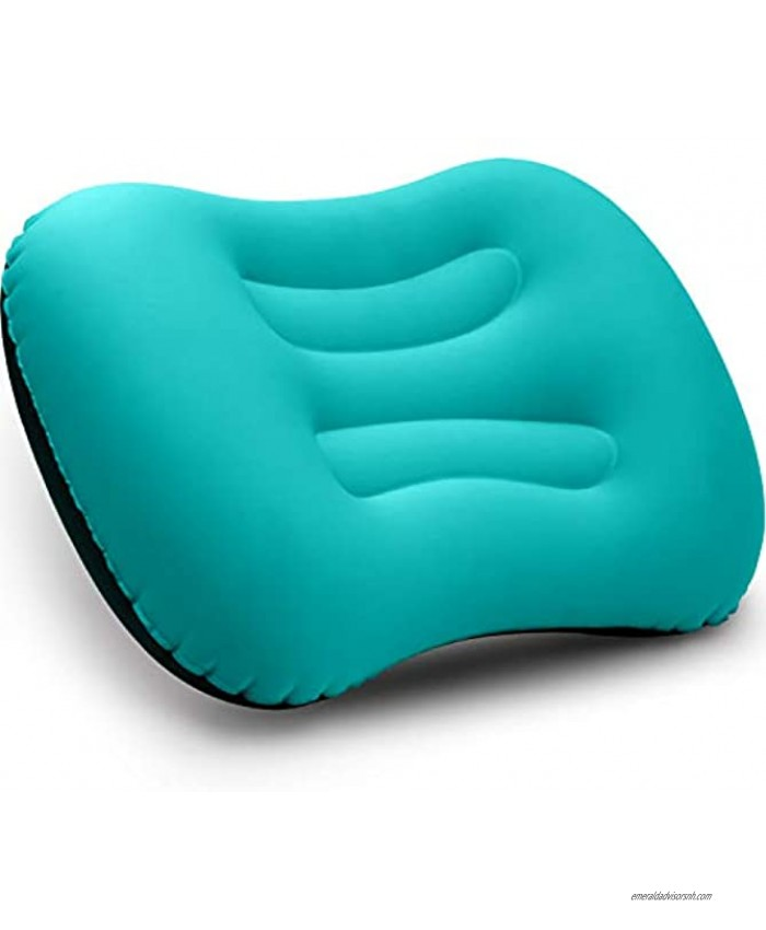 Betus Inflatable Camping Travel Pillow Compressible Compact Comfortable Ergonomic Ultralight Travel Pillow for Neck & Lumbar Support for Trips Backpacking and Camping Orange