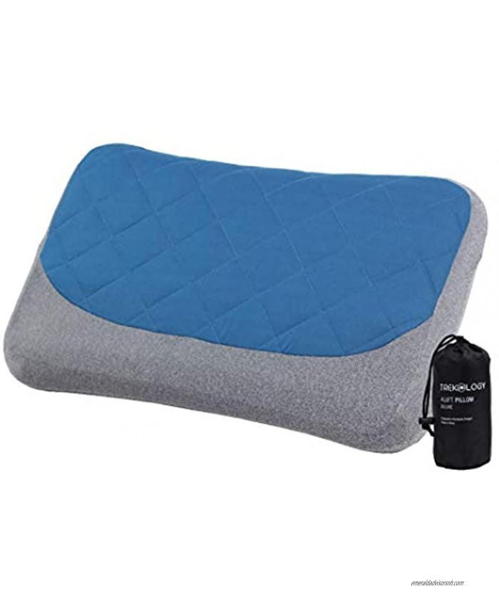 Inflatable Pillow for Camping Removable Cover Camping Pillows for Sleeping Backpacking Pillow Hiking Pillow Compact Ultralight Blow Up Air Travel Inflating Pillow Compressible Small Lightweight