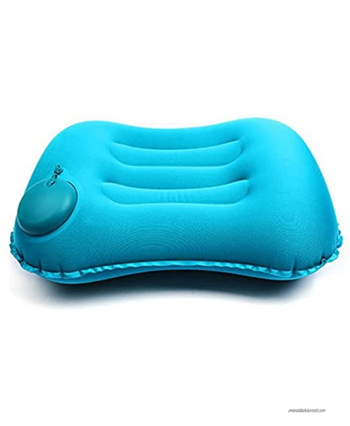 Outdoor Camp Camping Pillow Ultralight Inflatable Travel Pillows -Hiking Compressible Lightweight Ergonomic Neck & Lumbar Support Perfect for Backpacking or Airplane Travel Peacock Blue