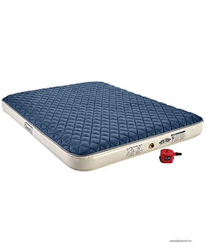 Coleman Inflatable Airbed with Zip-On Insulated Mattress Topper & Battery-Operated Pump Queen