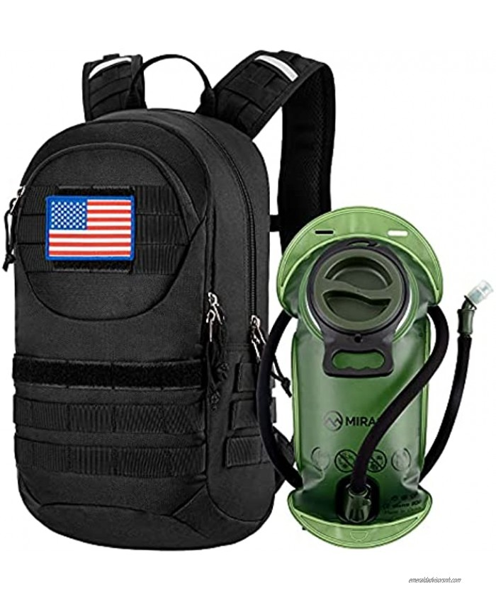 MIRACOL Tactical Hydration Pack Military MOLLE Insulated Hydration Backpack 900D with 2L BPA Free Water Bladder Daypack for Hiking Camping Cycling Running Daypack
