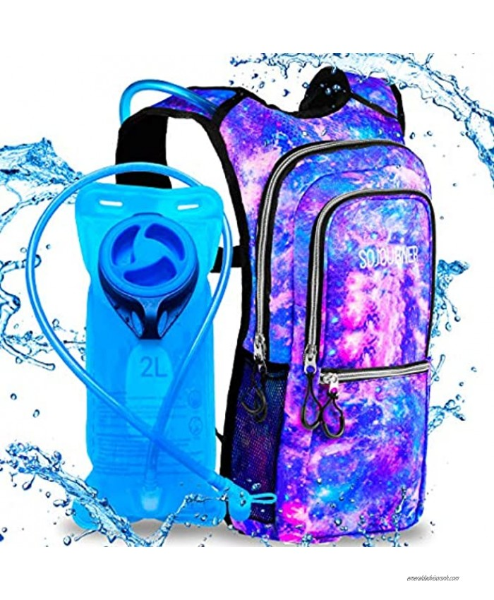 Sojourner Rave Hydration Pack Backpack 2L Water Bladder Included for Festivals Raves Hiking Biking Climbing Running and More