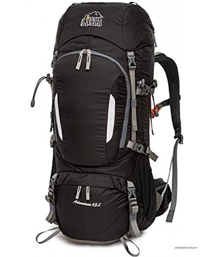 AVELER 65L 80L Water Resistance Nylon Internal Frame Backpack with Rain Cover