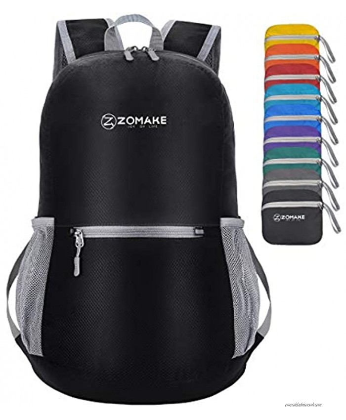 ZOMAKE Ultra Lightweight Hiking Backpack Water Resistant Small Backpack Packable Daypack for Women Men