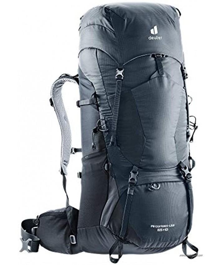 DEUTER Unisex– Adult's Aircontact Lite 65+10 Trekking backpack Graphite black 75L EU
